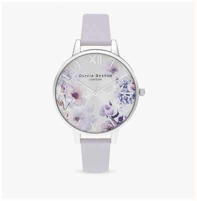 Olivia Burton | donne | fiori di luce solare | cinturino in pelle viola parma | OB16EG137