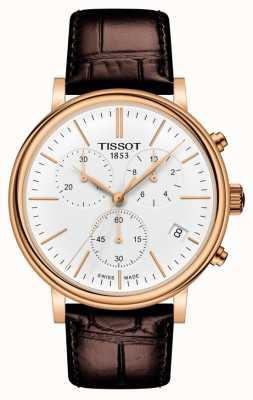 Tissot | cronografo carson premium | cinturino in pelle marrone | T1224173601100