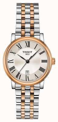 Tissot | carson premium lady | bracciale bicolore | T1222102203301