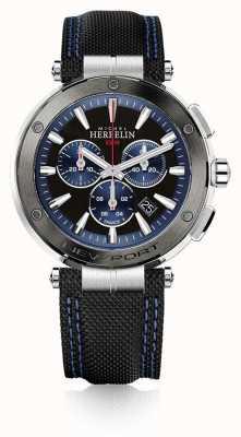 Michel Herbelin | uomo | newport | cronografo blu e nero | gomma | 37688/AG65