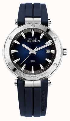 Michel Herbelin | uomo | newport | quadrante blu | gomma | 12288/15CB