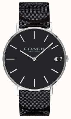 Coach | uomo | firma | charles | pelle nera | 14602157
