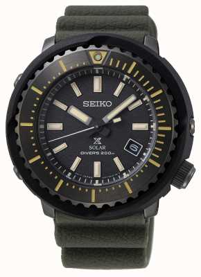 Seiko Prospex solar orologio da uomo quadrante nero 200m | cinturino verde | SNE543P1