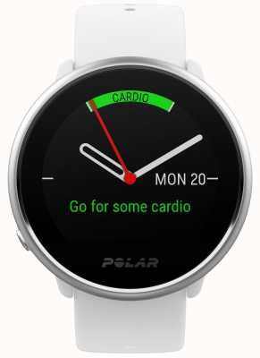 Polar Ignite | activity tracker | frequenza cardiaca | silicone bianco | S 90072456