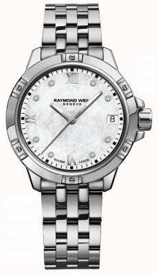 Raymond Weil | tango delle donne | quadrante con diamanti | bracciale in acciaio inossidabile 5960-ST-00995