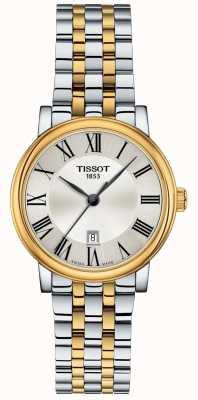 Tissot | Carson femminile | acciaio inossidabile bicolore | quadrante argento | T1222102203300