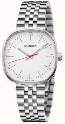 Calvin Klein | bracciale da uomo in acciaio | quadrante quadrato in argento | K9Q12136