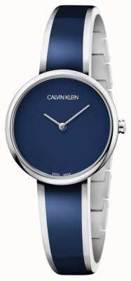 Calvin Klein | donne seducono | bracciale in resina blu acciaio inox | K4E2N11N