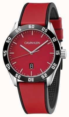 Calvin Klein | uomo completo cinturino in caucciù rosso | quadrante rosso | K9R31CUP