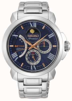 Seiko | azionamento diretto cinetico premier | uomo | calendario blu | SRX017P1