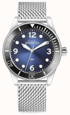 Michel Herbelin | quarzo trofeo | uomo | quadrante blu | maglia di acciaio inossidabile | 12260/AN15B