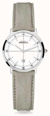 Michel Herbelin | quarzo città | donne | cinturino in pelle beige | quadrante bianco | 16915/12LKN