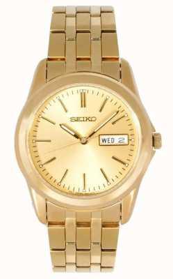 Orologio uomo Seiko tono oro cinturino SGGA48P1