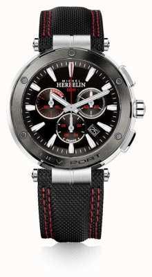 Michel Herbelin | uomo | newport | cronografo rosso e nero | nylon | 37688/AG44