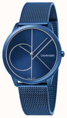Calvin Klein | donne | minimo | cinturino in maglia blu | quadrante blu | K3M52T5N