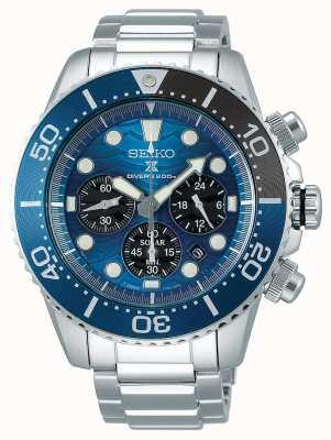 Seiko | prospex diver's | salva l'oceano | quadrante cronografo blu | SSC741P1