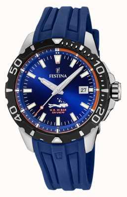 Festina | subacquei mens | cinturino in caucciù blu | quadrante blu | F20462/1