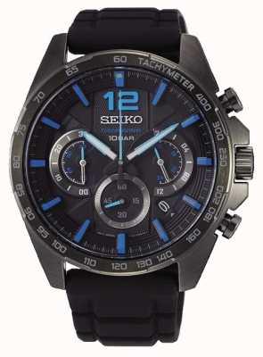 Seiko   neo sports   uomo   cronografo nero   cinturino nero   SSB353P1