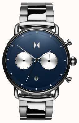 MVMT Blacktop astro blu | acciaio inossidabile | quadrante blu D-BT01-BLUS