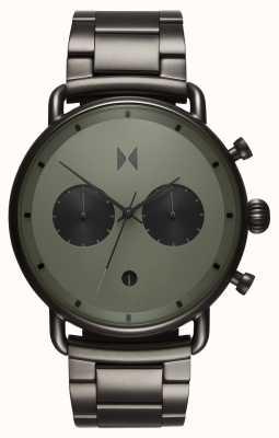 MVMT Blacktop rallye verde canna di fucile | braccialetto pvd | quadrante verde D-BT01-OLGU