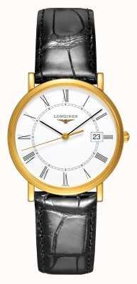 Longines Presenza | Oro giallo 18 carati | 34mm da uomo | Cinturino in pelle L47776110
