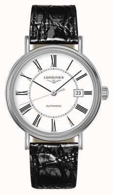 Longines Presenza | automatico svizzero | pelle nera | quadrante bianco L49224112