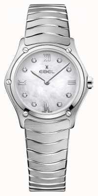 EBEL Classico sportivo da donna | quadrante madreperla | set di diamanti | 1216417A