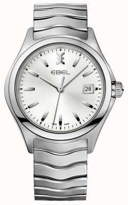 EBEL | mens wave | bracciale in acciaio inossidabile | quadrante argento | 1216200