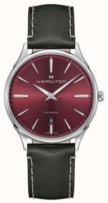 Hamilton Sottile linea di Jazzmaster | automatico | quadrante rosso | cinturino grigio H38525771