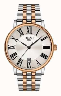 Tissot | mens carson | quadrante argentato | acciaio inossidabile bicolore T1224102203300