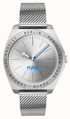 HUGO #act | maglia di acciaio inossidabile | quadrante argentato 1530107