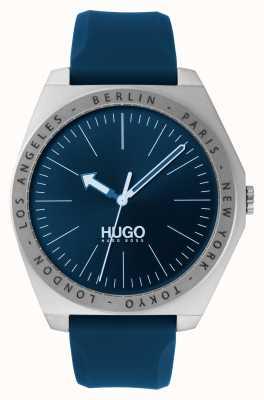 HUGO #act | cinturino in caucciù blu | quadrante blu 1530105