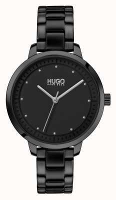 HUGO #achieve | braccialetto ip nero | quadrante nero 1540038