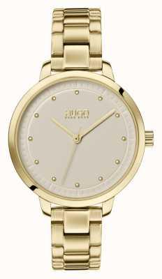 HUGO #achieve | braccialetto ip oro | quadrante champagne 1540039