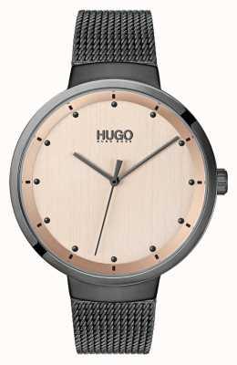HUGO #go | maglia ip grigia | quadrante in oro rosa 1540003
