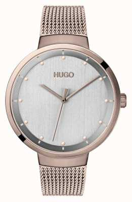 HUGO #go | maglia ip oro rosa | quadrante grigio 1540004