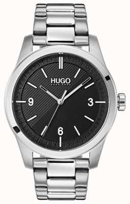 HUGO #create | bracciale in acciaio inossidabile quadrante nero 1530016