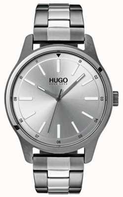 HUGO #dare | bracciale in acciaio inossidabile quadrante argentato 1530021