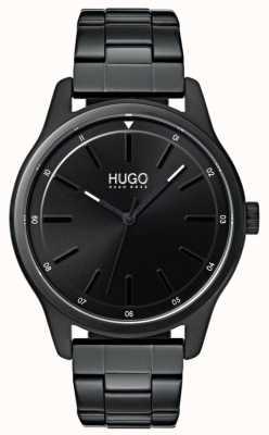 HUGO #dare | braccialetto ip nero | quadrante nero 1530040