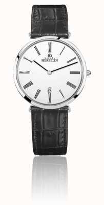 Michel Herbelin | uomo | epsilon | cinturino in pelle nera | quadrante bianco | 19406/01N