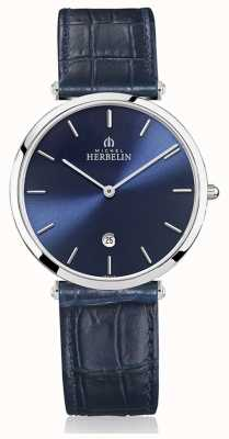 Michel Herbelin | uomo | epsilon | cinturino in pelle blu | quadrante blu | 19406/15BL