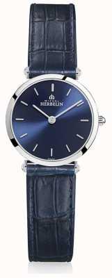 Michel Herbelin | donne | epsilon | cinturino in pelle blu | quadrante blu | 17106/15BL