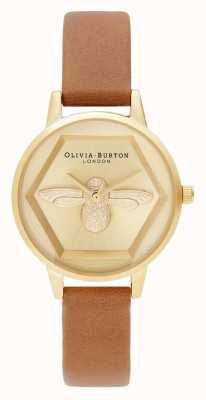 Olivia Burton | Orologio di beneficenza ape 3d | cinturino vegan color miele | OB16AM167
