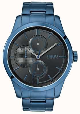 HUGO #discover | braccialetto ip blu | quadrante nero | 1530086