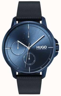 HUGO #focus | cinturino in pelle blu | quadrante blu 1530033