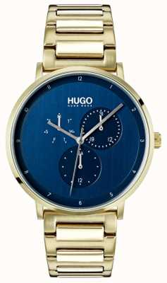 HUGO #guide | braccialetto ip oro | quadrante blu 1530011