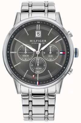 Tommy Hilfiger | bracciale da uomo in acciaio inossidabile quadrante grigio | cronografo | 1791632