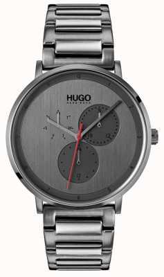 HUGO #guide | braccialetto grigio ip | quadrante grigio 1530012