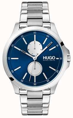 HUGO #jump | bracciale in acciaio inossidabile quadrante blu 1530004
