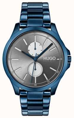 HUGO #jump | braccialetto ip blu | quadrante grigio 1530006